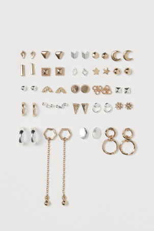 24 pairs stud earrings