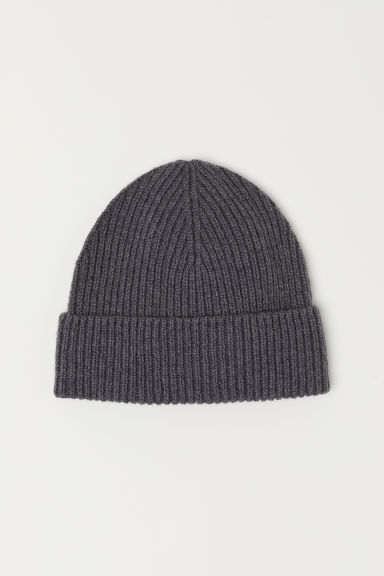 Wool-blend hat - Dark grey marl -  | H&M
