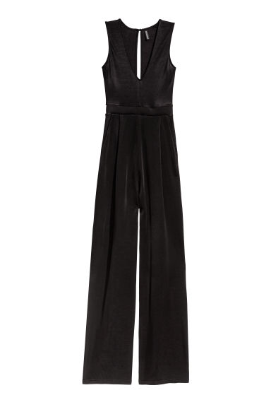 V-neck jumpsuit - Black - Ladies | H&M CN