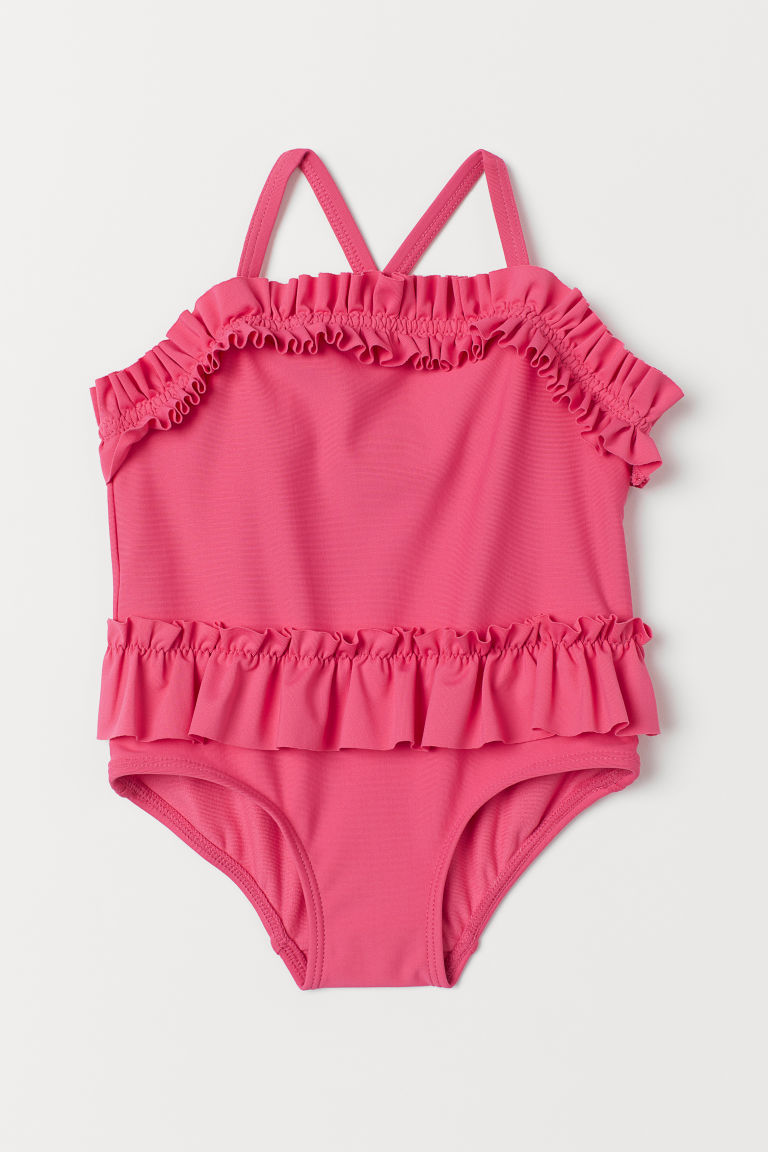 Frilled swimsuit - Pink - Kids | H&M GB