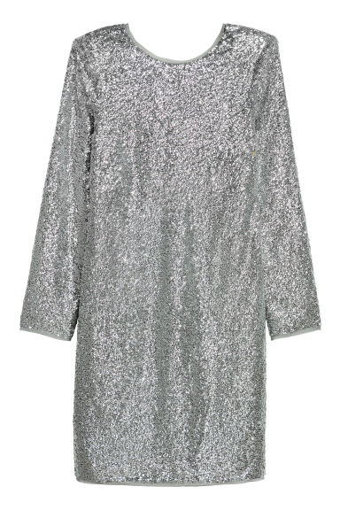 Sequined dress - Silver-coloured - Ladies | H&M
