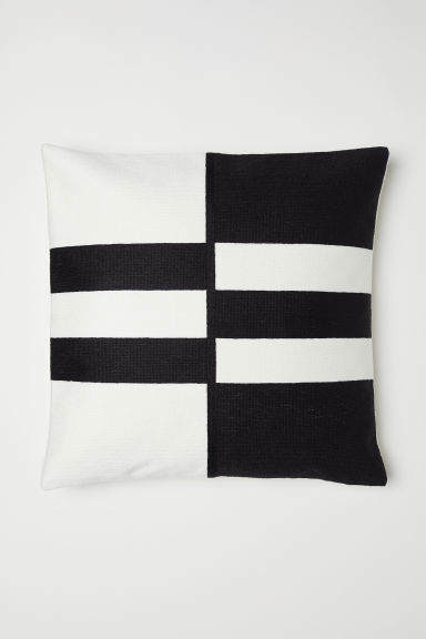 Copricuscino color block - Nero/bianco - HOME | H&M IT
