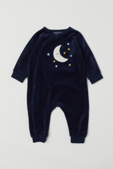 Velour all-in-one pyjamas