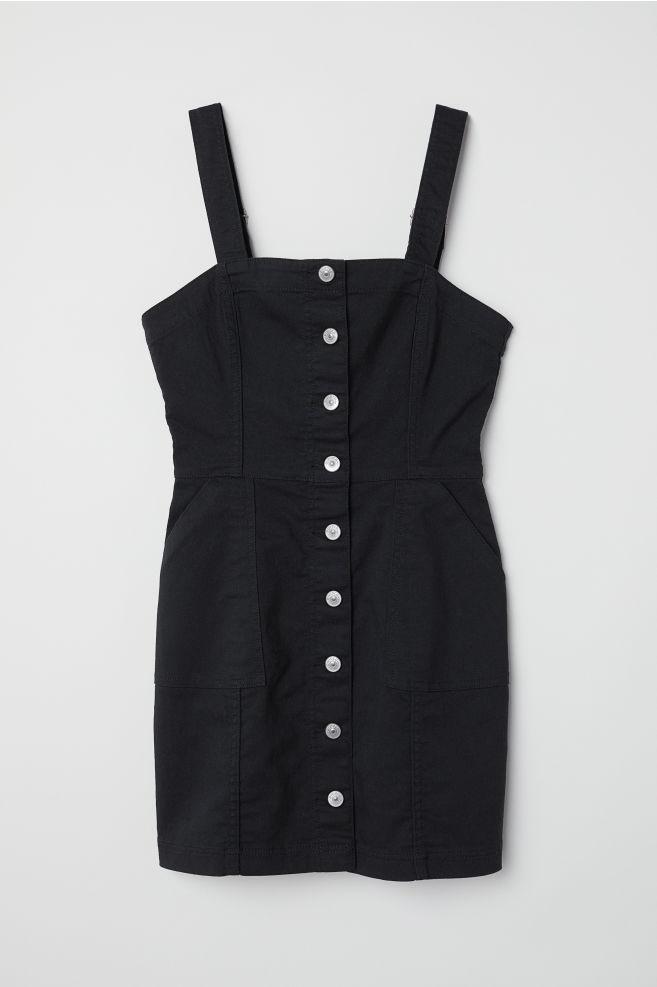 3f6a0f0f5dc2 Bib Overall Dress - Black - Ladies