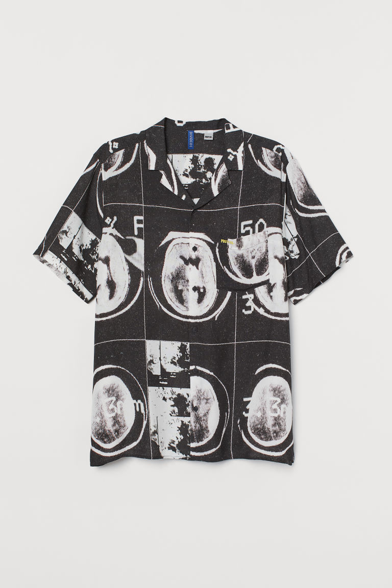 Patterned shirt - Black/Post Malone - Men | H&M