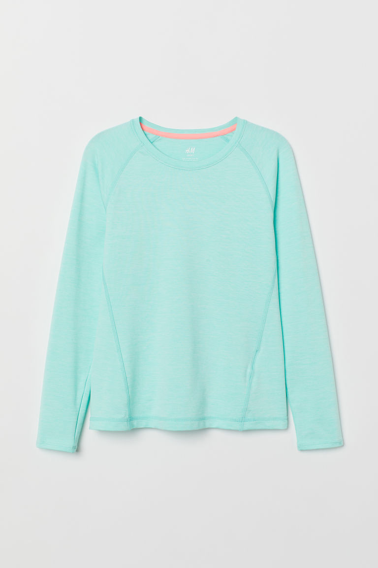 Sports top - Turquoise marl - Kids | H&M CN
