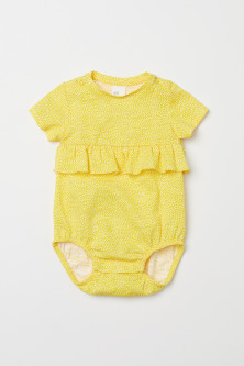 Cotton bodysuit with a frill