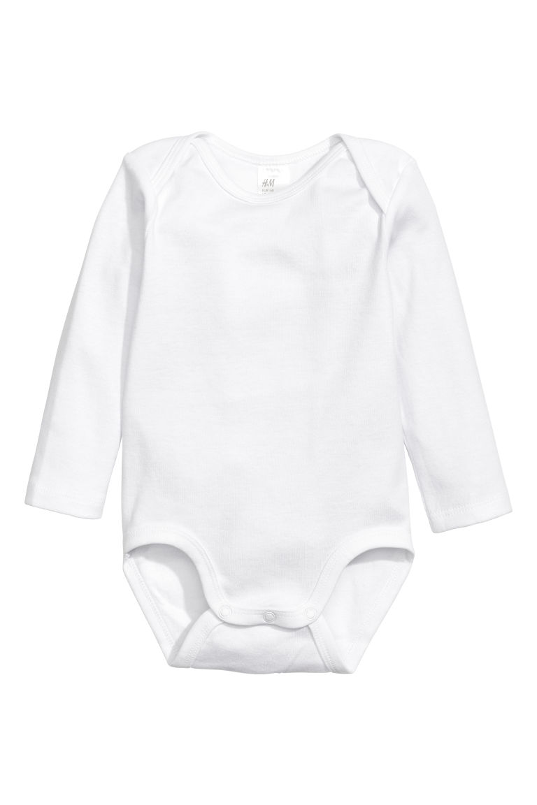 55779791afc33 6-pack Long-sleeved Bodysuits - White/Dog - | H&M CA