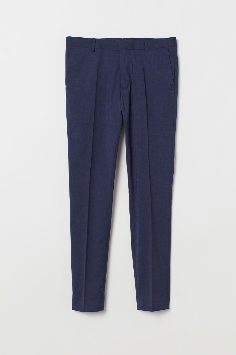 Suit trousers Super Skinny Fit - Dark blue marl - Men | H&M