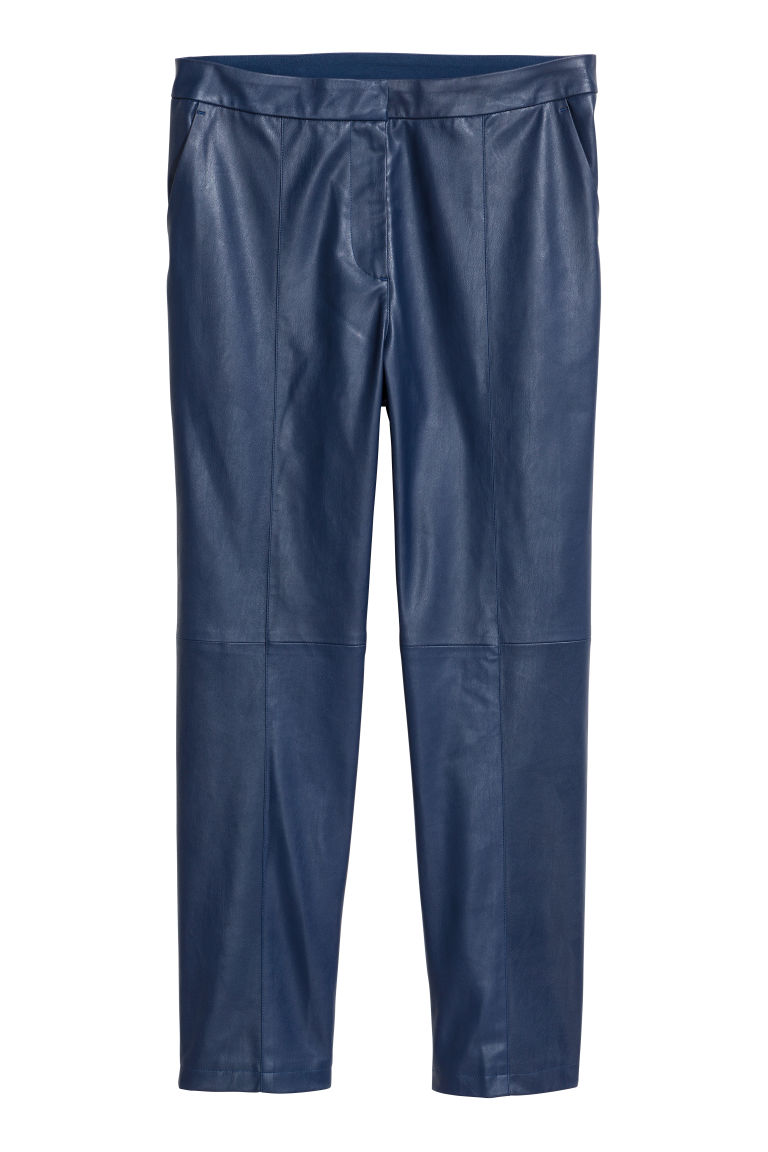 Faux Leather Pants - Blue - Ladies | H&M CA