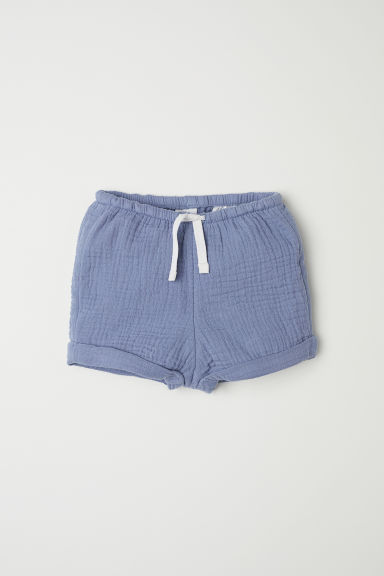 Cotton shorts - Dusky blue -  | H&M CN