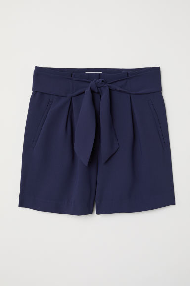 Tailored shorts - Dark blue - Ladies | H&M