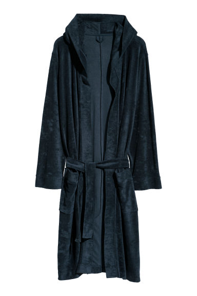 Terry dressing gown - Dark blue - Home All | H&M GB