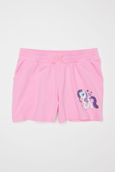 Sweatshirt shorts - Light pink/My Little Pony -  | H&M