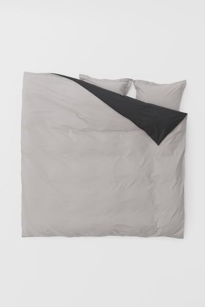 H&M - Cotton poplin duvet cover set - 2