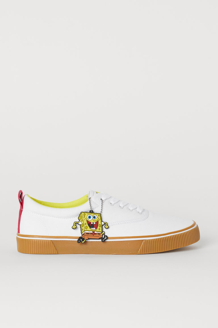 Sneakers van canvas - Wit/SpongeBob - HEREN | H&M BE