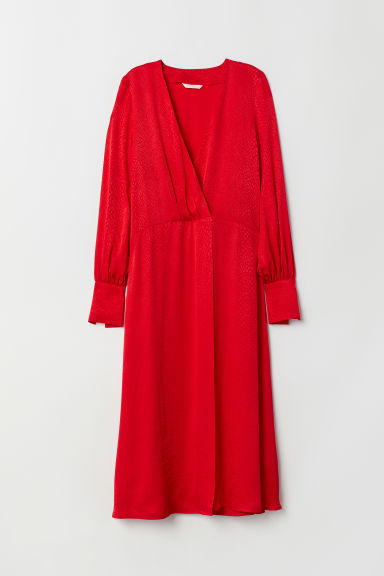 Jacquard-weave dress - Red -  | H&M CN