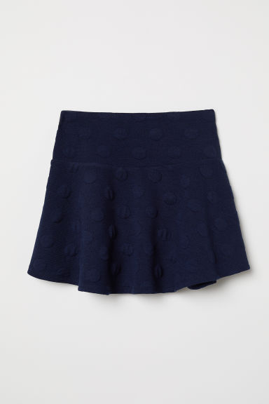 Jersey skirt with a flounce - Dark blue - Kids | H&M CN