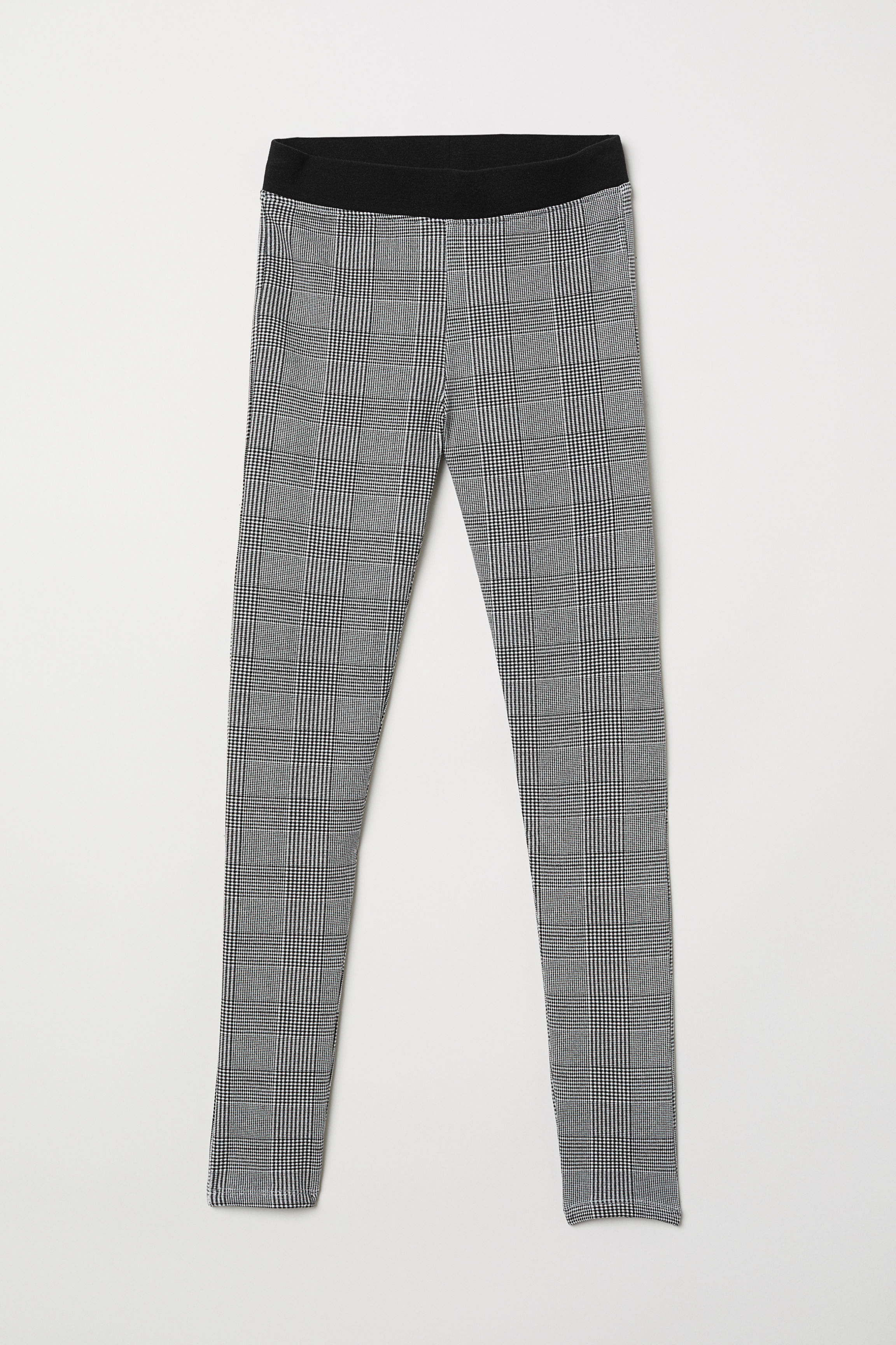 eaa6743c1611b Thick Jersey Leggings - Black/checked - Kids   H&M US