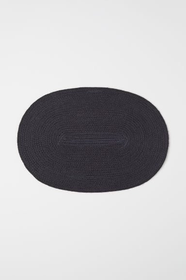 Oval jute table mat - Dark grey - Home All | H&M CN