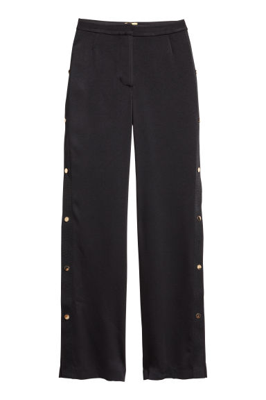 Trousers with press-studs - Black - Ladies | H&M CN