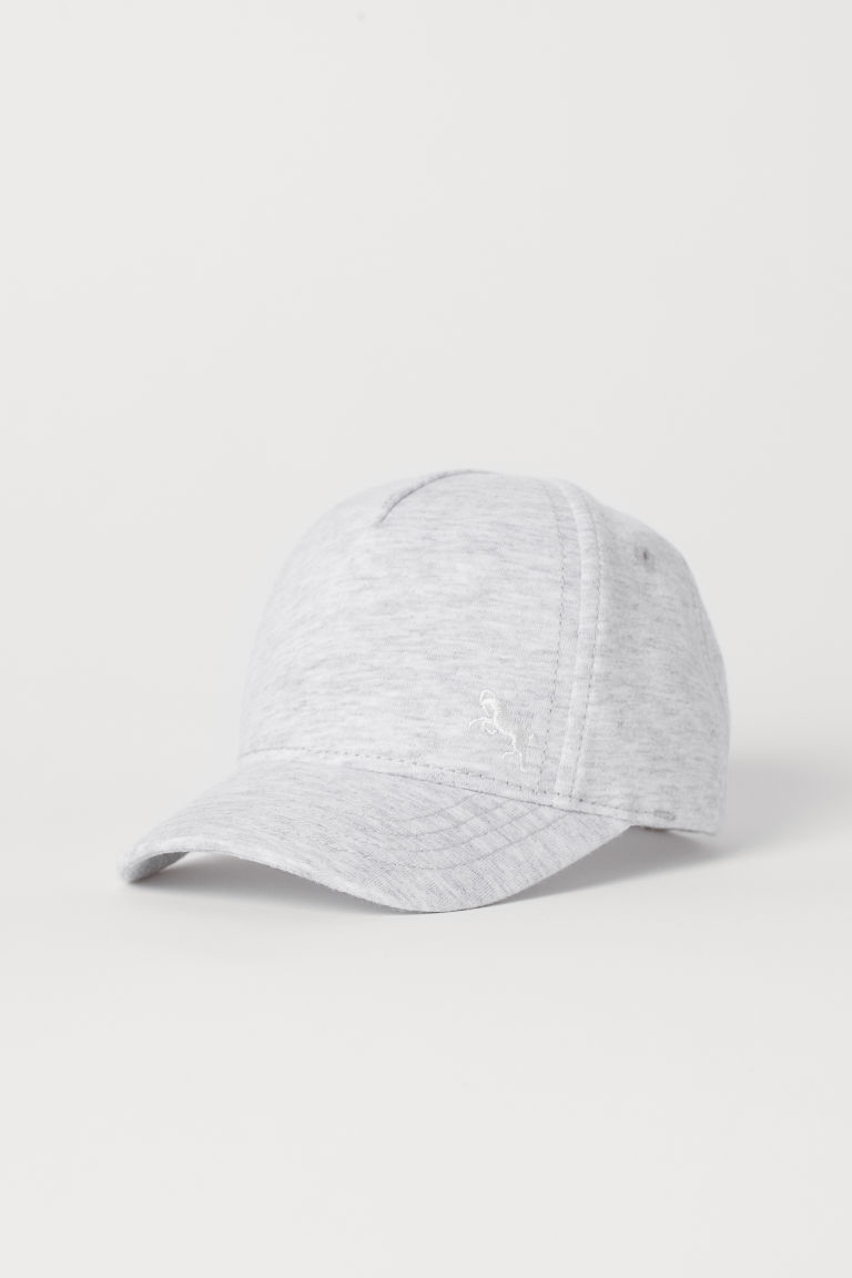 Jersey Cap - Light gray melange -  | H&M US