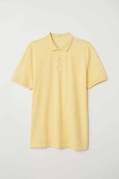 Short-sleeved polo shirt - Light yellow - Men | H&M CN
