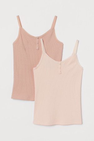 2-pack ribbed jersey tops