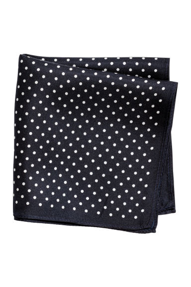 Silk handkerchief - Dark blue/Spotted -  | H&M