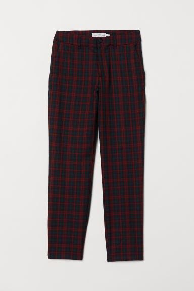 Checked trousers - Dark red - Ladies | H&M CN