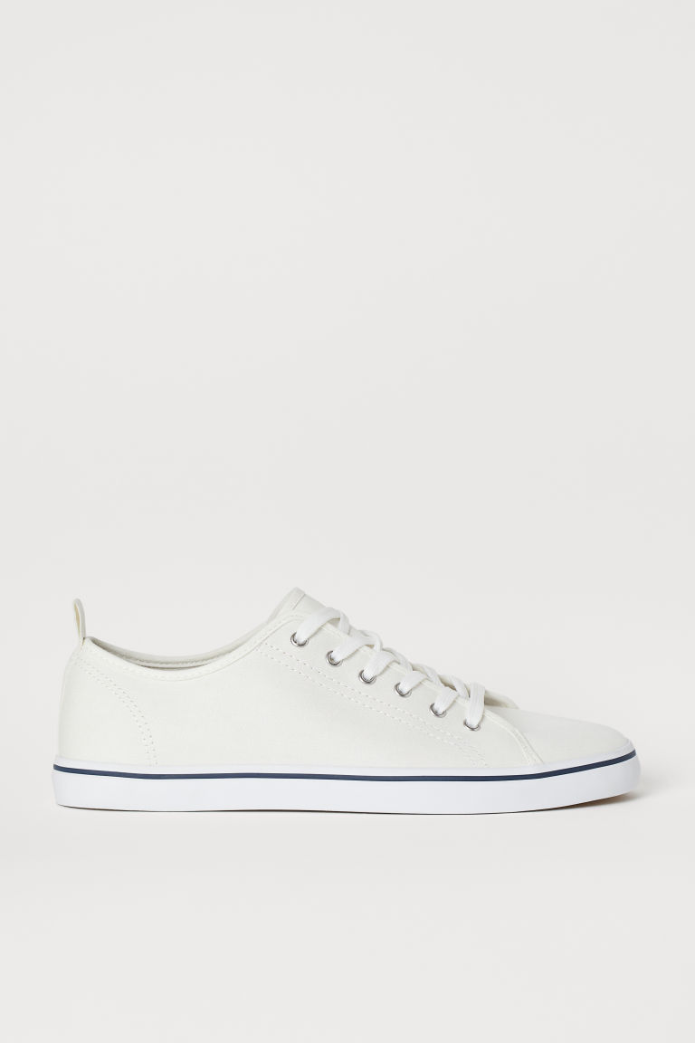 Sneakers van canvas - Wit - HEREN | H&M BE