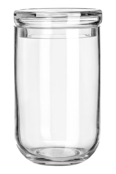 Large glass jar with a lid - Clear glass -  | H&M GB