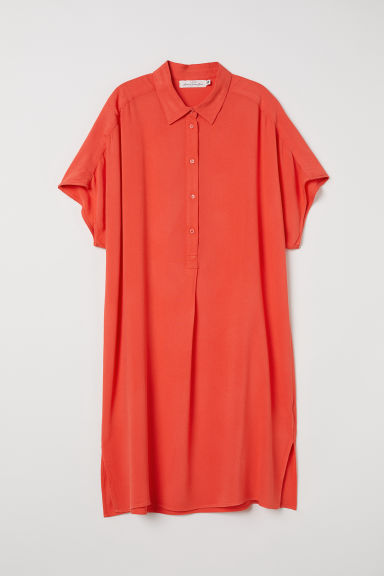 Crêpe shirt dress - Orange - Ladies | H&M