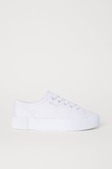 Sneakers con plateau - Bianco - DONNA | H&M IT