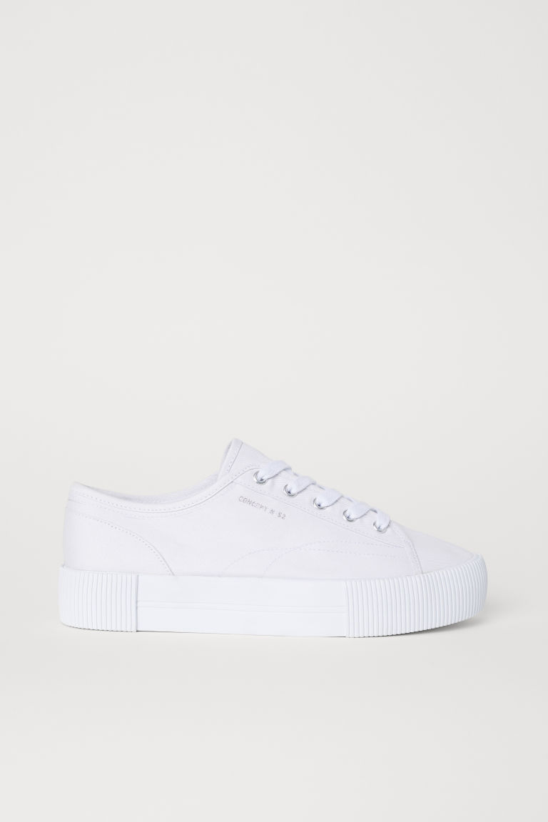 Platform Sneakers - White - Ladies | H&M US