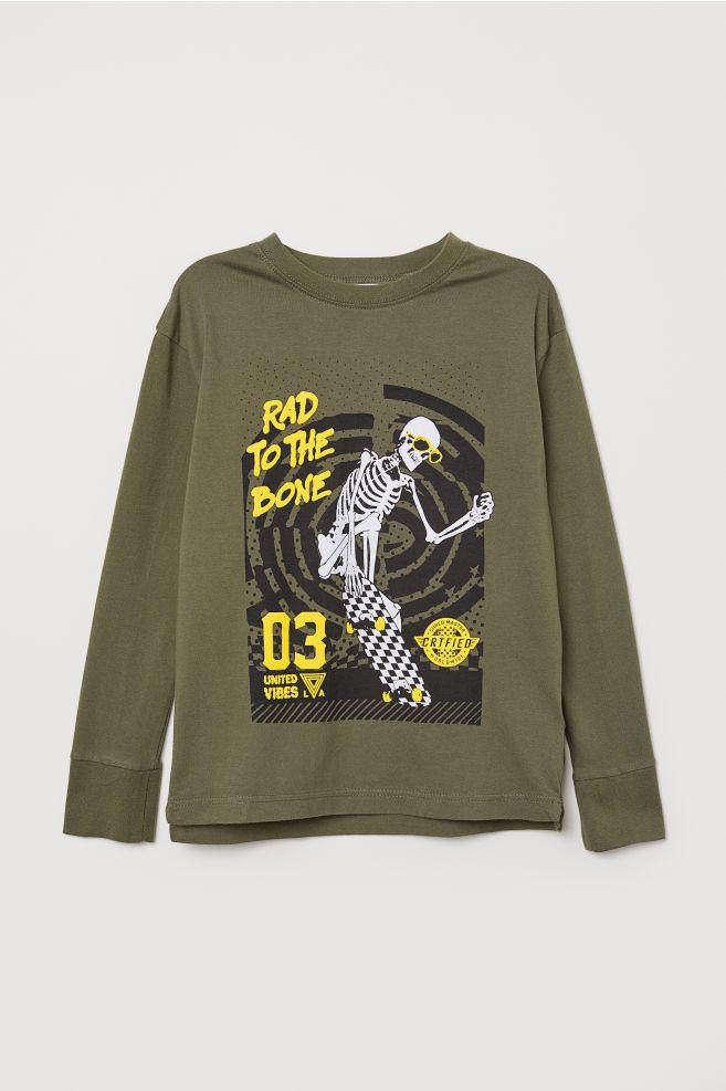 8d36c181f645f T-shirt à manches longues - Vert kaki Rad To The Bone - ENFANT
