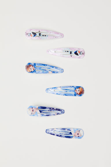 6-pack hair clips - Light blue/Frozen -  | H&M