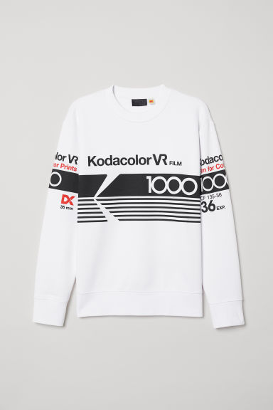 Printed sweatshirt - White/Kodak - Men | H&M
