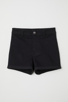 Twill Shorts High Waist