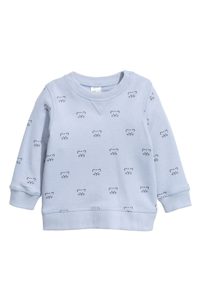 Sweatshirt - Light blue/Teddy - Kids | H&M CN