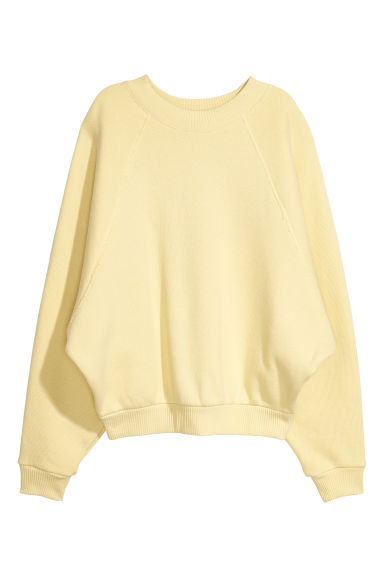 Oversized sweatshirt - Yellow - Ladies | H&M