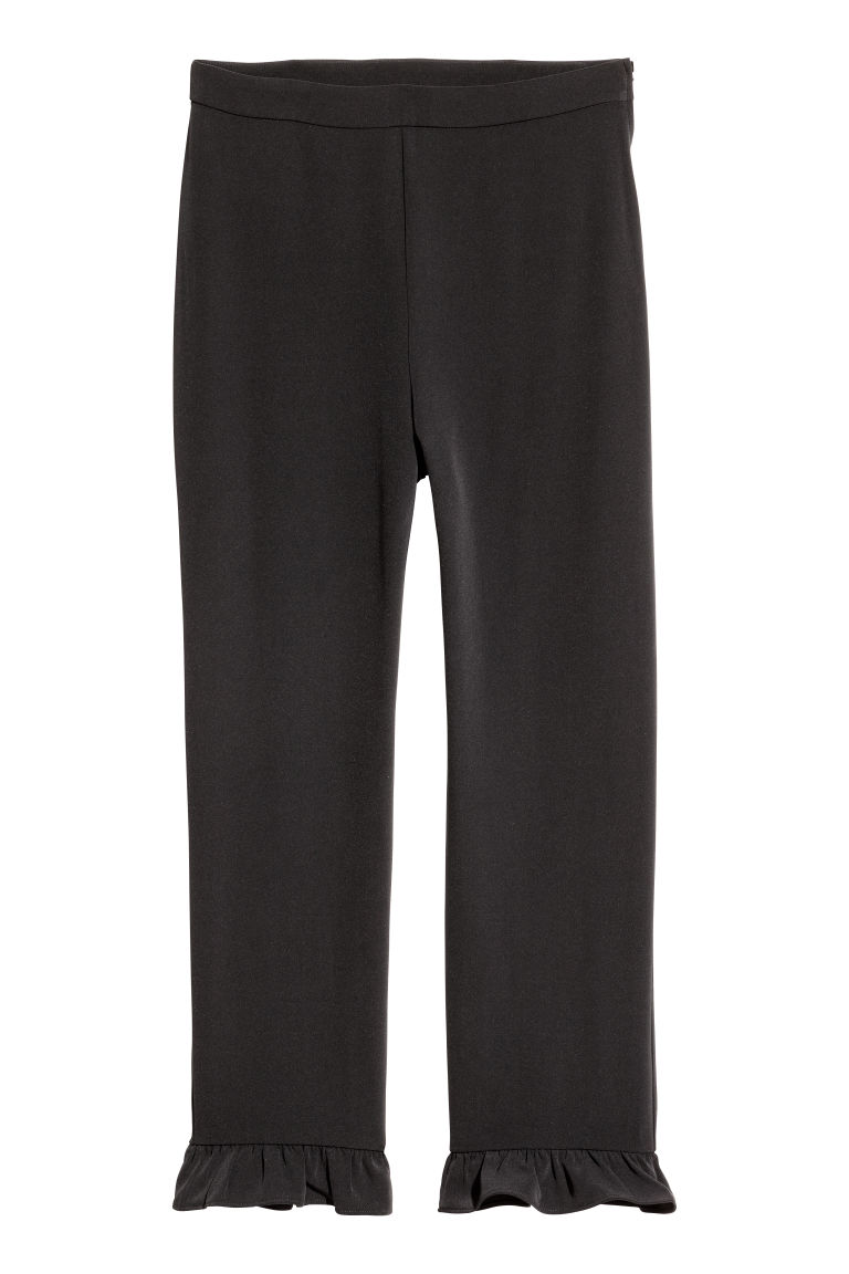 Frilled trousers - Black - Ladies | H&M