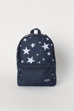 Patterned backpack