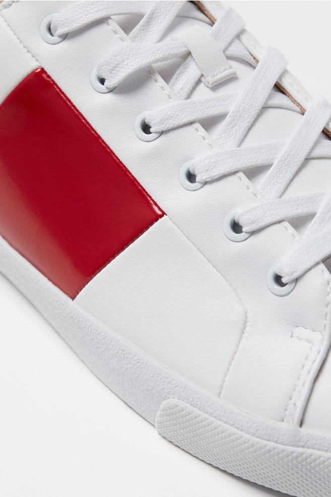 7d52084d ... Sneakers - Hvid/Rød - HERRE | H&M ...