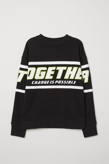 Sweatshirt - Black/Together - Kids | H&M