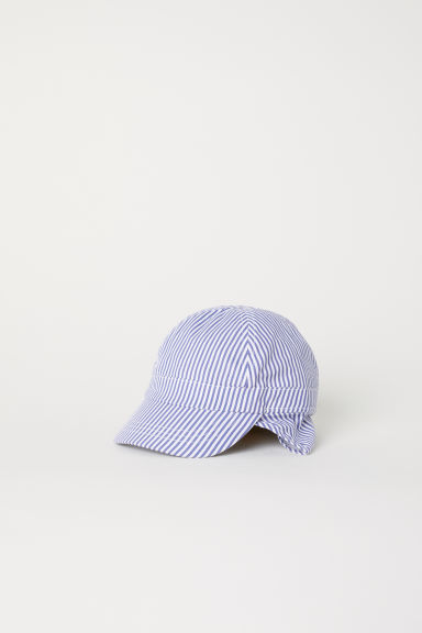 Sun cap - Purple/White striped - Kids | H&M
