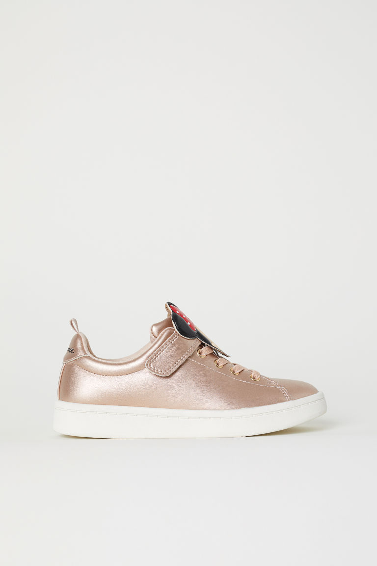 Appliquéd trainers - Rose gold-colour/Minnie Mouse - Kids | H&M