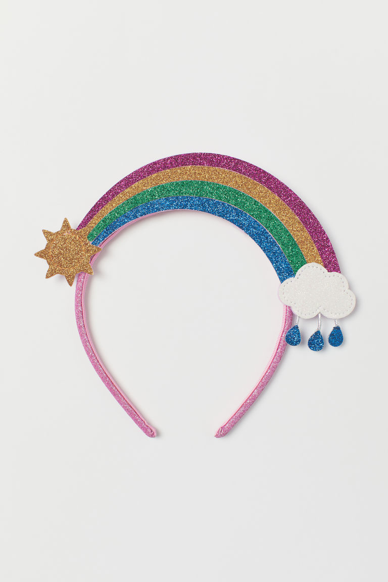 Glittery rainbow Alice band - Pink/Rainbow - Kids | H&M CN