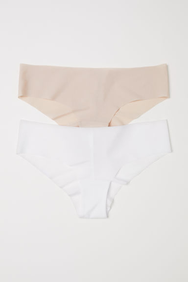 2-pack hipster briefs - White/Light beige - Ladies | H&M