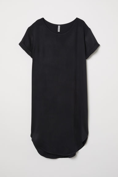 Viscose T-shirt dress - Black - Ladies | H&M